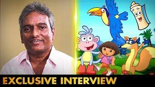 "Dora-வில் ""Map மற்றும் குள்ளநரிக்கு"" Voice நான்தான்   Writer&Dubbing Artist Krishnamoorthy Interview"