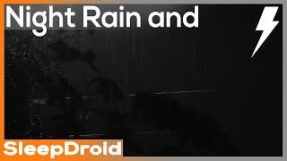 ► Heavy Night Rainfall by a Streetlight Thunderstorm Sounds for Sleeping, Hard, 10 hours (lluvia)