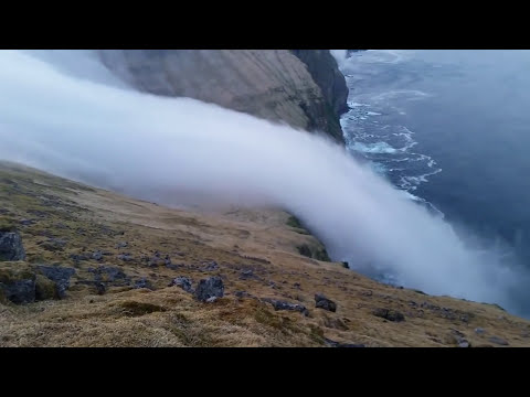 Seeing Fog Trickle Down A Cliff Is Like Watching A Waterfall Of Ghosts