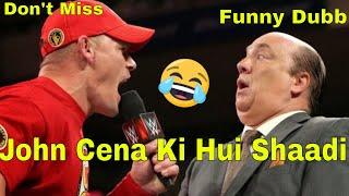 WWE hindi Dubbing John cena ki Shaadi Must Watch