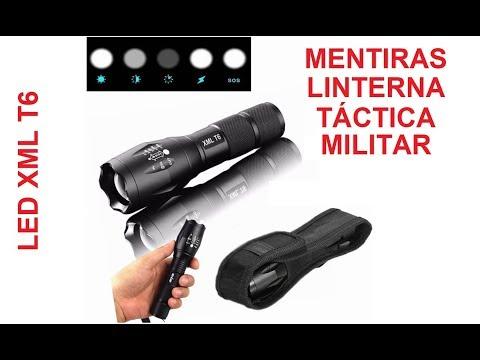 Mentiras sobre linterna tactica militar. LED XML T6. Cual comprar