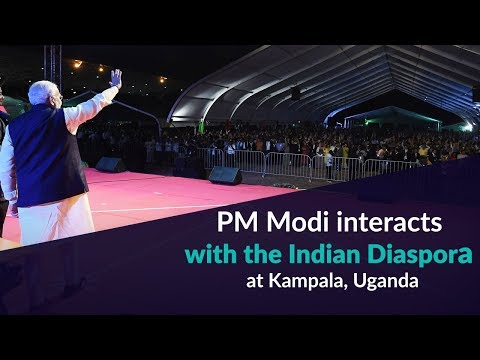 PM Modi interacts with the Indian Diaspora at Kampala, Uganda