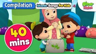 Omar & Hana | 40 Min Compilation | Adab, Manners |Pick Your Litter Up | Dua Before Sleeping +