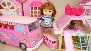 Baby doll camping car and house baby Doli camping play