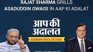 Asaduddin Owaisi In Aap Ki Adalat Full Episode  India TV