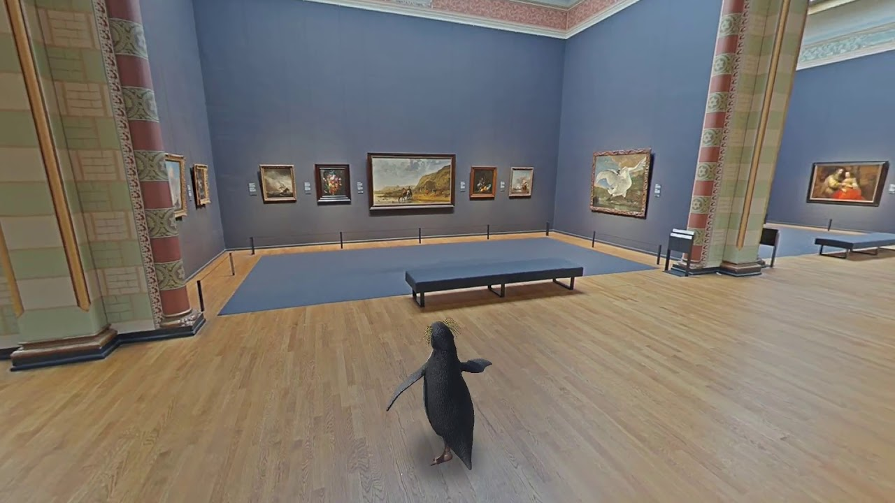 There's a penguin loose at the Rijksmuseum!