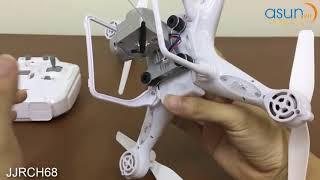 Hướng Dẫn Máy Bay Điều Khiển Flycam JJRC H68 Wifi Camera bay 20P Asun vn