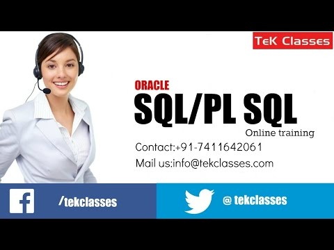 Oracle PL SQL Training Videos | Pl SQL Tutorials | Oracle PL/SQL Training