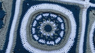 Crochet Flora Afghan: Water Fountain Square