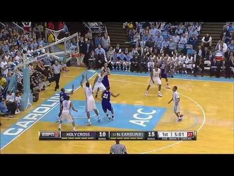 Video: UNC-Holy Cross Game Highlights