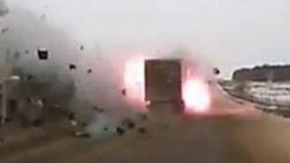 Подборка страшных ДТП с возгоранием