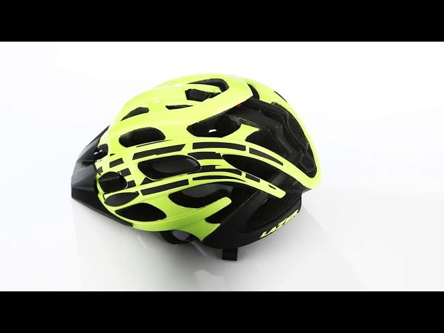 Видео Шлем Lazer Magma+ хаки-оранжевый