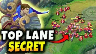 THE SECRET TO WINNING TOP LANE! USE THIS SIMPLE TRICK TO WIN EVERY LANE PHASE! - League of Legends