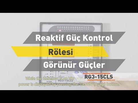 RG3 - 15 CLS Reaktif Güç Kontrol Rölesi - Görünür Güçler