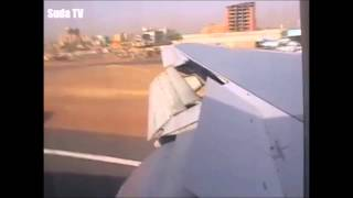 preview picture of video 'Scary plane landing at the airport in Khartoum لحظات مخيفة لطائرة ﻓﻲ ﻣﻄﺎﺭ ﺍﻟﺨﺮﻃﻮﻡ'