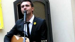 Darius Campbell performing an acoustic version of Colourblind