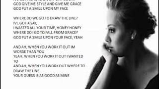 Adele - God Put A Smile Upon Your Face ( Lyrics)