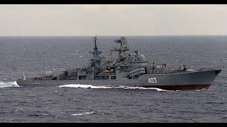 """Эсминец """"Сарыч"""" ВМФ России. проекта 956."""