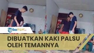 Viral Video Pemuda yang Alami Kecelakaan, Didampingi hingga Dibuatkan Kaki Palsu oleh Temannya
