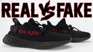 Real vs Fake adidas YEEZY Boost 350 V2 Bred Legit Check