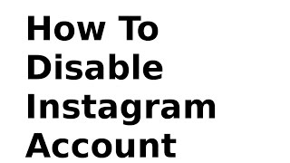 HOW TO delete instagram account? (NEW)