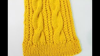 How To Knit A Cable Scarf (Remake )