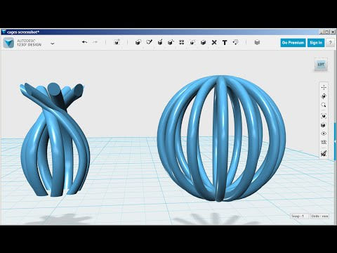 Autodesk 123D Design  Circular and Odd Shape Cages   818pm   by ivanhoeeewu    Thingiverse. Autodesk 123D Design  Circular and Odd Shape Cages   818pm   by