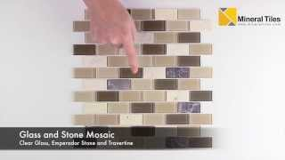 Peel And Stick Tuscany Glass Mosaic Tile  - 101CHIGLABPLO2180PS