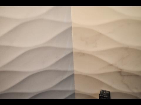 Идеальный внутренний угол из рельефной плитки. Александр Оробейко