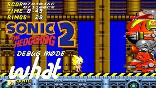 Sonic the hedgehog 2 debug mode super sonic what