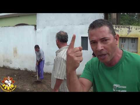 Chuva Forte causa Bate Boca na Favela do Justinos no trampo da Prefeitura de Juquitiba