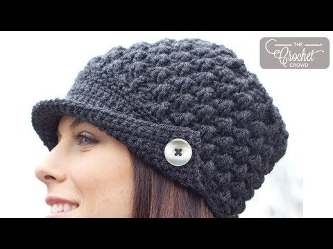 Crochet Women's Peak Cap Hat