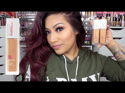 NEW Maybelline SUPERSTAY Full Coverage 24HR Foundation Review Honey & Golden Shades
