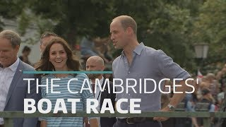 Duke and Duchess of Cambridge in boat race battle