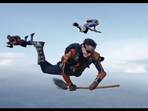 Playing Quidditch while skydiving
