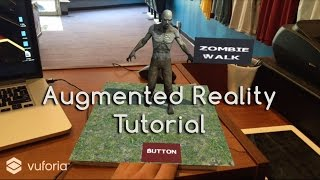 How To Augmented Reality App Tutorial Virtual Buttons with Unity and Vuforia