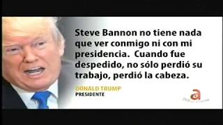 Trump arremete contra Bannon en Twitter | A Fondo con Sevcec