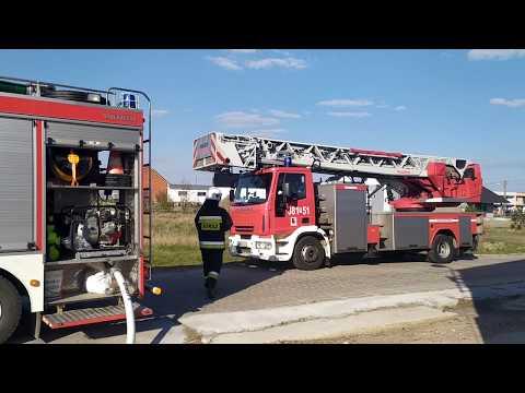 Wideo1: Pożar budynku gospodarczego ze słomą w Wilkowicach