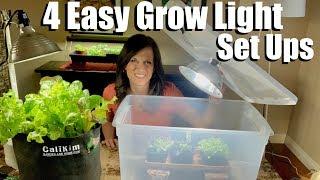 4 Easy Grow Light Set Ups for Starting Seeds Indoors // Spring Garden Series #1