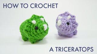 How To Crochet A Triceratops Dinosaur || Amigurumi Pattern Tutorial