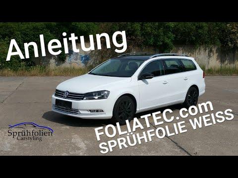 Auto folieren Anleitung Sprühfolie Abkleben FOLIATEC.com Weiss matt white Tutorial Carbody Sprayfilm