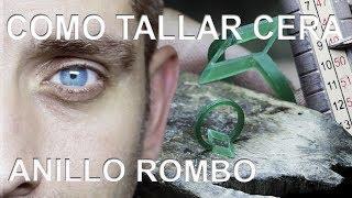COMO TALLAR CERA - ANILLO ROMBO (How to carve wax - Rhombus ring)