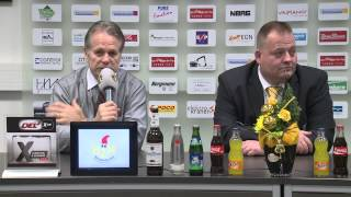 preview picture of video 'Pressekonferenz Spiel Krefeld Pinguine - Augsburger Panther 30.11.2014'