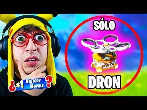 SÓLO LOOT de **DRONES** Challenge en Fortnite Battle Royale!! (RETO ganar looteando sólo drones)