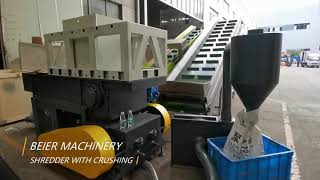 Beier machinery shredder with crushing machine
