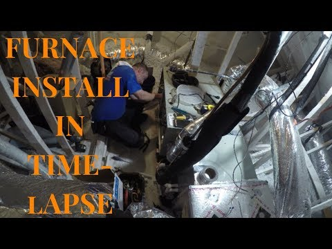 Trane Furnace Installation in Time Lapse