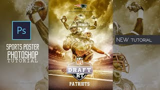 Sports Wallpaper Design l American Football Patriots Poster l Photoshop tutorial