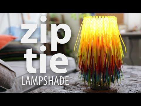 Zip Tie Lampshade