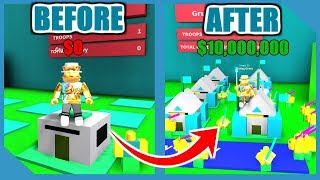 NOOB TO PRO! UNLIMITED GOLD AND UNLOCK ALL AREAS IN ROBLOX ARMY CONTROL SIMULATOR