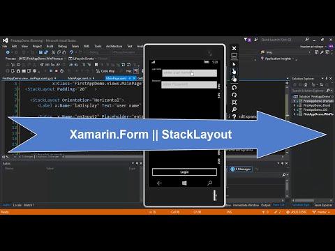 10-  Xamarin.Form|| StackLayout || تصميم نافذة تسجيل دخول